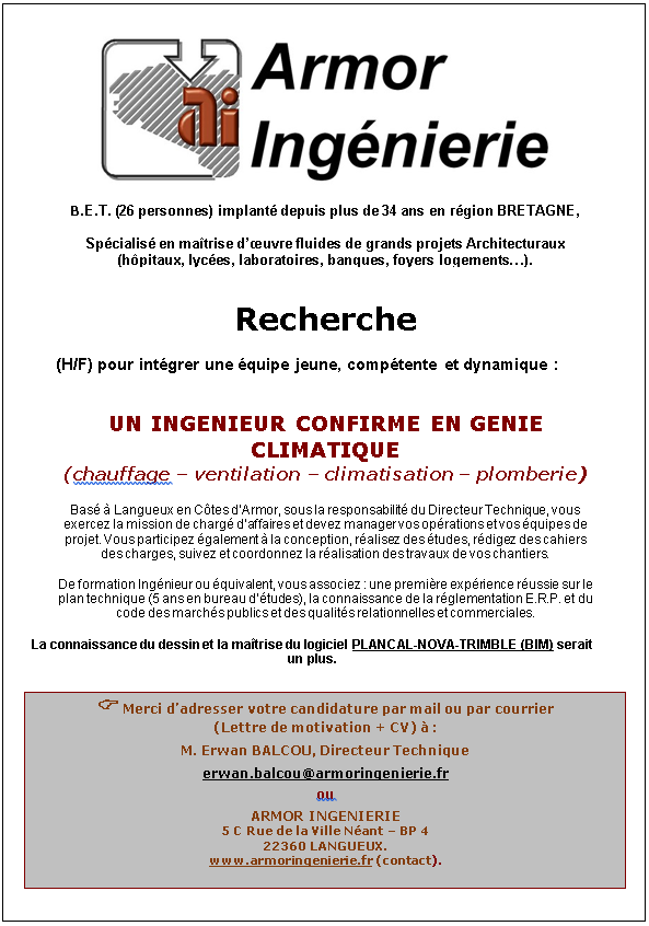 Ingénieur(e) - CVC