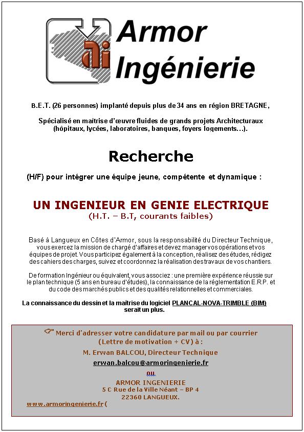 Ingénieur(e) - Electricité