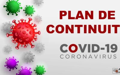Plan de continuité de notre activité (COVID-19)