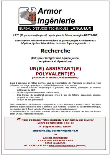 Assistant(e) polyvalent(e)