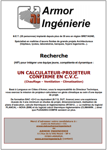 Calculateur-projeteur en CVC (H/F)
