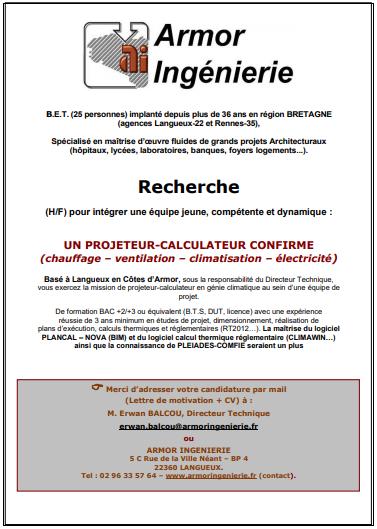 Calculateur-projeteur (H/F)